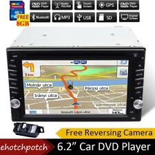 "6.2"" 2din Car DVD CD Audio video Player Stereo Map GPS Radio SWC Reverse Camera"