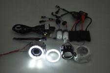 "VI 2.5"" HID Projector Car Headlights Retrofit Shroud H7 H4 Angel Eye KIT"