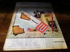 LU - VERITABLE PETIT BEURRE - Publicité de presse / Press advert !!! 1957 !!!