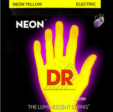 DR Handmade NYE7-10 Neon YELLOW Electric Guitar Strings 10-56 med 7-String set