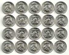 1 Roll__1960-P Franklin Half Dollar Coins__BU/UNC__90% Silver__#1045KJ6