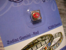 ESSENZA  ITALIAN CHARM - ZODIAC- LINKS TOGETHER MAKES A BRACELET - RED- GEMINI