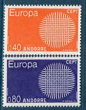 ANDORRE TIMBRES 202-203 NEUF XX QUALITE LUXE - EUROPA 1970 - RARES