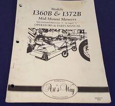 INTERNATIONAL HARVESTER Mid Mount Mowers I360B & I372B Operators Manual