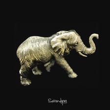 Silver Plated Serendipia Handmade Elephant Sculpture Figurine Art