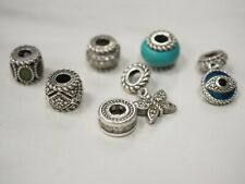 Judith Ripka Rope Accent  Bead 925 Sterling Silver  Charm lot