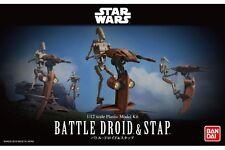 Star Wars Plastic Model Kit 1/12 BATTLE DROID & STAP Bandai Japan NEW **