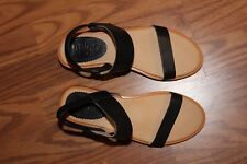 LATIGO sandals black strappy size 7.5M worn 1X block heel