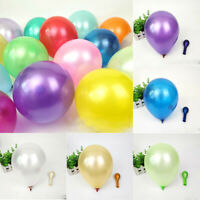 100Pcs Colorful Pearl Wedding Birthday Balloon Latex 10 inch Celebration Party