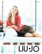 Publicité Advertising 028  2013  Liu-Jo  pret à porter & Kate Moss