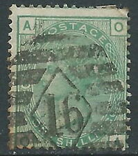 1873-80 GREAT BRITAIN USED SG 150 1s GREEN PLATE 8 (OA)