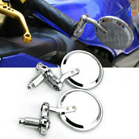 """For Benelli Buell Ducati KTM Chrome Motorcycle Round 7/8"""" Handle Bar End Mirrors"""