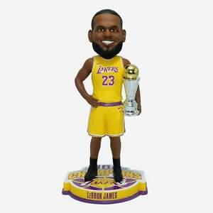 "Lebron James Los Angeles Lakers NBA Champions 10"" MVP Player Bobblehead Doll"