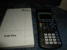 Texas Instruments Ti-83 Plus Graphing Calculator And Book Works M2 Euc