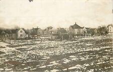 South Hayfield Minnesota~Snow Splattered Fields~Neighborhood~1910 RPPC