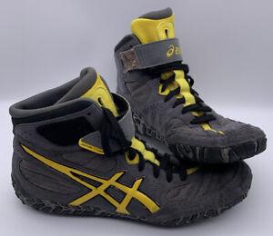 Asics Aggressor 2 Wrestling Shoes - Graphite/Sunflower/Black Size 10 Men's J300Y