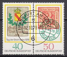 BRD 1978 MER. n. 980-981 ZD timbrato Francoforte sul Meno, con top gomma (15151)