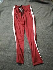 Women's Slim-Fit Moisture-Wicking Striped Track Joggers- S