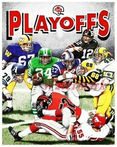 CFL Playoffs ART Print Poster all 9 Teams Color 8 X 10 Photo REPRINT Picture