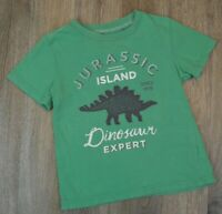 Carter's Jurassic Island Boys Graphic Cotton Green Size 4 Short Sleeve T-Shirt