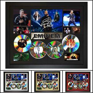 Eminem 4CD Signed Framed Memorabilia Limited Ed - Multiple Variations