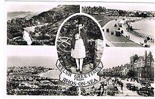 Postcard - Rhos on Sea - Welsh Greetings (4 views)