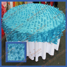 Table Overlay Wedding Party Supplies 55 X 55 Inches Wide Leaf Taffeta Turqu