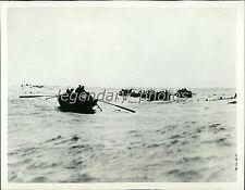 1914 World War I Survivors Struggle for Rescue Original News Service Photo