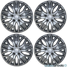 """4 NEW OEM SILVER 15"""" HUB CAPS SET FITS VOLKSWAGEN VW CAR ABS CENTER WHEEL COVERS"""