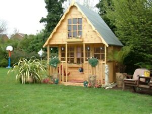 2 storey Wooden Playhouse/wendy house/play house/ 8ft x8ft  Swiss chalet