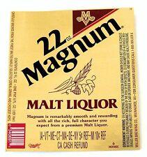 Miller Brewing 22oz MAGNUM  MALT LIQUOR beer label WI 22oz with CRVs