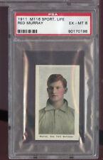 1911 M116 Sporting Life Red Murray New York EX-MT PSA 6 Graded Baseball Card