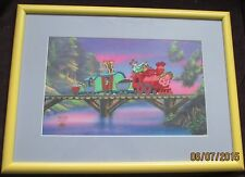 "Original Animation Art.""Little Engine That Could"".Framed/Glass. C.O.A. Enc."