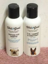 """Two 4 Oz Bottles Well & Good """"SHAMPOO"""" FOR DOGS Relieves Itching"""