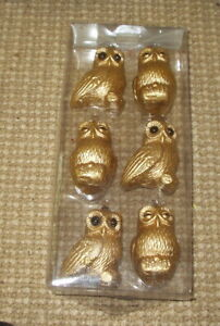 NEW in BOX - Martha Stewart Living Shatter Resistant Ornaments - 6 Owls