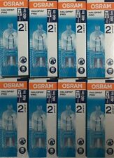 8 BULBS Osram 33W = 40W G9 2pin Halopin Halogen Capsule Clear Dimmable bulb
