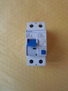 DOEPKE DFS 2 16 AMP 10mA 10KA  RCCB CIRCUIT BREAKER