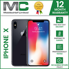 Apple iPhone X (IPhone 10) 64GB Grey Silver -All Grades - Unlocked- 12M Warranty