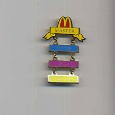 pin badge McDONALD'S  Master-opener-grill-drive thru 015gi