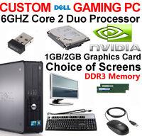 "DELL GAMING PC 6GHZ DESKTOP 1TB 8GB 22"" TFT COMPUTER WINDOWS 10 NEW GFX HDMI"