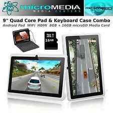 "MicroMedia 9"" QuadCore Pad Keyboard Case Bundle 8GB-Plus 32GB microSD Media Card"
