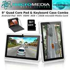 "MicroMediaTECH-9"" QuadCore Pad-Keyboard Case-Bundle-1GB Ram-8GB-32GB microSD"