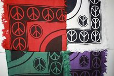 ONE Peace Sign design altar cloth 18x18 RED
