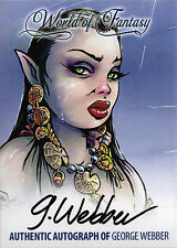 Breygent World of Fantasy Autograph Z-Card ZA-GW1 by George Webber