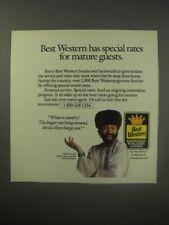 1990 Best Western Motel Ad - Yakov Smirnoff - Best Western has special rates