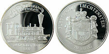 LIECHTENSTEIN  ,  20  EURO  ARGENT  LOCOMOTIVE  1997  ,  FLEUR  DE  COIN