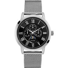 Guess Mens Watch Delancy - Multi Dial Silver Mesh Strap W0871G1