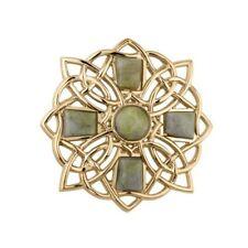 Marble Brooch Solvar Gold-Plated Connemara