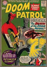 """Doom Patrol #98 Dc 09/65 Two Tales """"Death Of The.!"""" + """"60 Sinister Seconds!"""" Fn+"""