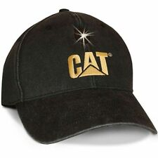 Caterpillar Cat Baseball Style Cap w/LED Light Black